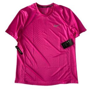 Nike AT3951-686 Dri-Fit Miler Reflective Top Pink